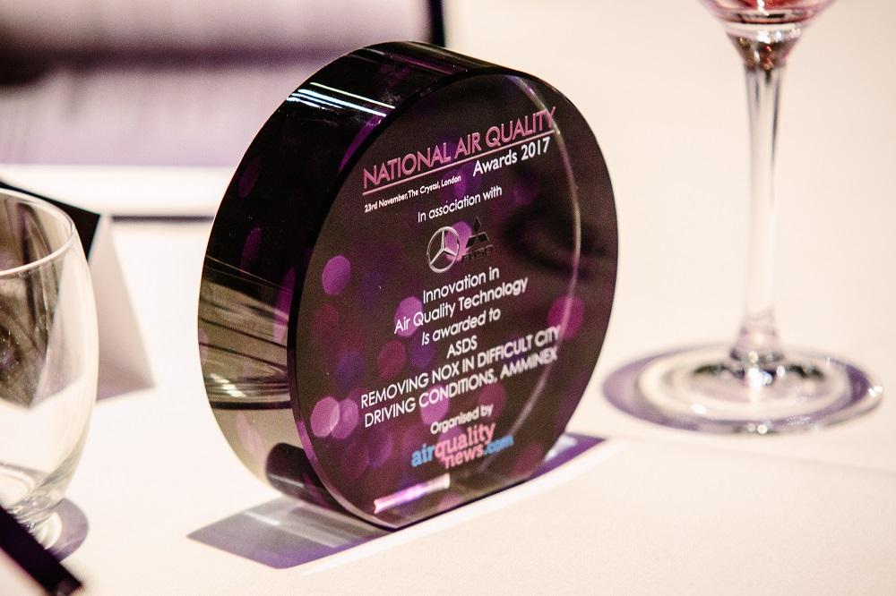 NOx reduction technology ASDS TM wins Air Quality Award | Faurecia
