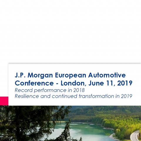 J.P. Morgan European Automotive Conference - London